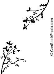 Doodle Silhouette Floral