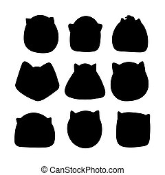 Doodle silhouettes of cats.