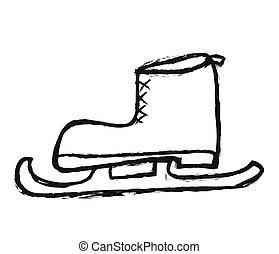 Doodle Skates, vector illustration