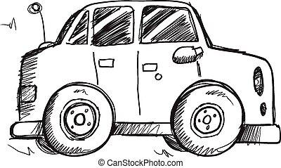 Doodle Sketch Car Vector art