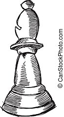 Doodle Sketch Chess Bishop Vector