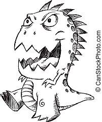 Doodle Sketch Monster Vector art