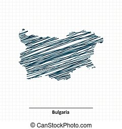 Doodle sketch of Bulgaria map