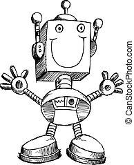 Doodle Sketch Robot Illustration Art