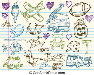 Doodle Sketch Vector Elements collection Set