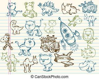 Doodle Sketch Vector Elements set