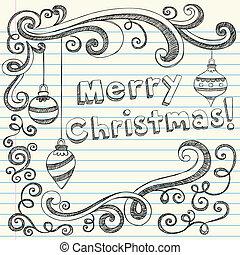 doodle, sketchy, kerstballen
