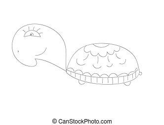 Doodle Sketchy turtle Vector Illustration