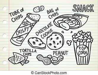 doodle, snack