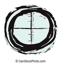 doodle sniper black finder target