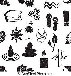 doodle spa seamless pattern