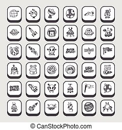 doodle space icons