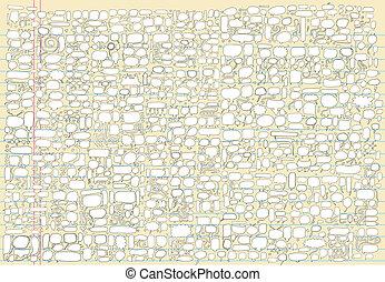 Doodle Speech Bubble Vector set