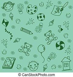 doodle, speelbal, kunst, geitjes