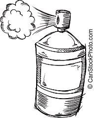 Doodle Spray Can Vector art