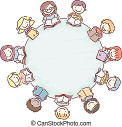 Doodle Stickman Kids Books Round Table
