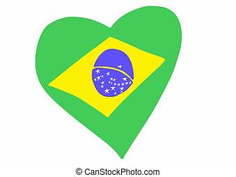 doodle style Brazil flag