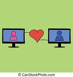 Doodle style love online