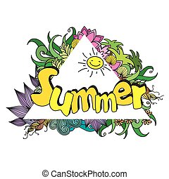 summer background, vector illustration