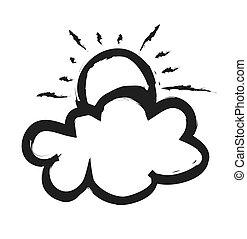 doodle sun and cloud