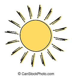 Doodle sun drawing