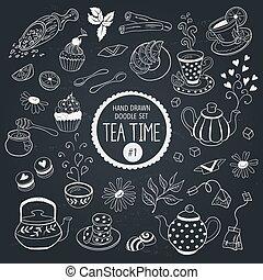 Doodle tea time set