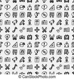 doodle, teia, padrão