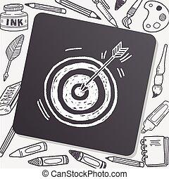 doodle, tiro com arco