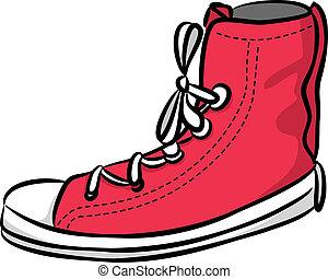doodle, toevallige schoenen