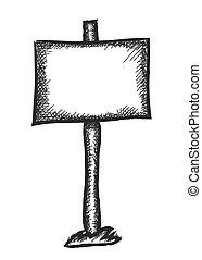 doodle traffic sign, vector design