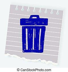 Doodle Trash can