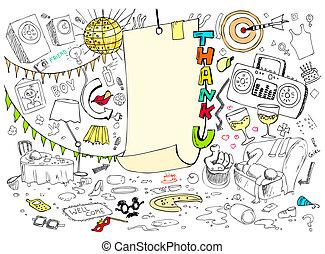 doodle, tu, agradecer