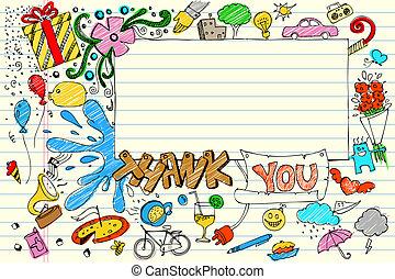 doodle, ty, dziękować