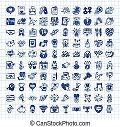 doodle Valentine's Day icon