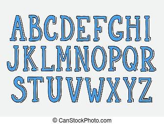 Doodle vector alphabet