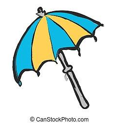 doodle vector beach umbrella