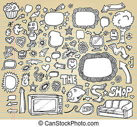 Doodle Vector Illustration set