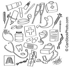 Doodle vector Medical