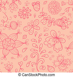 Doodle vector seamless pattern