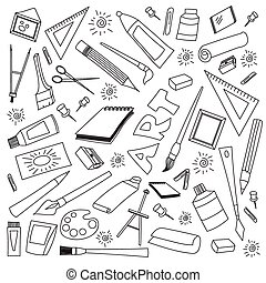 Doodle vector set of art