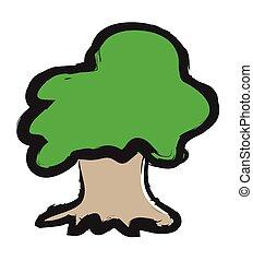 doodle vector tree illustration
