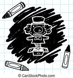 doodle, verrassing, doosje
