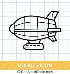 doodle, vliegende boot