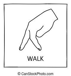 Doodle Walk icon