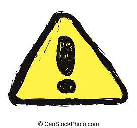 doodle warning sign vector