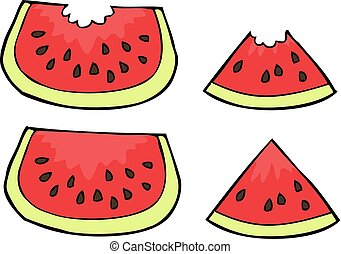 Doodle watermelon slices