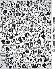 doodle web icon background