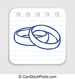 Doodle Wedding Rings icon