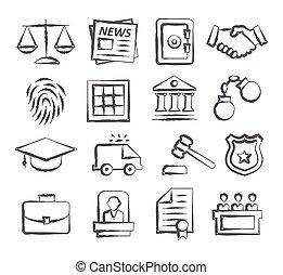 doodle, wet, iconen