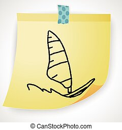 doodle windsurfing